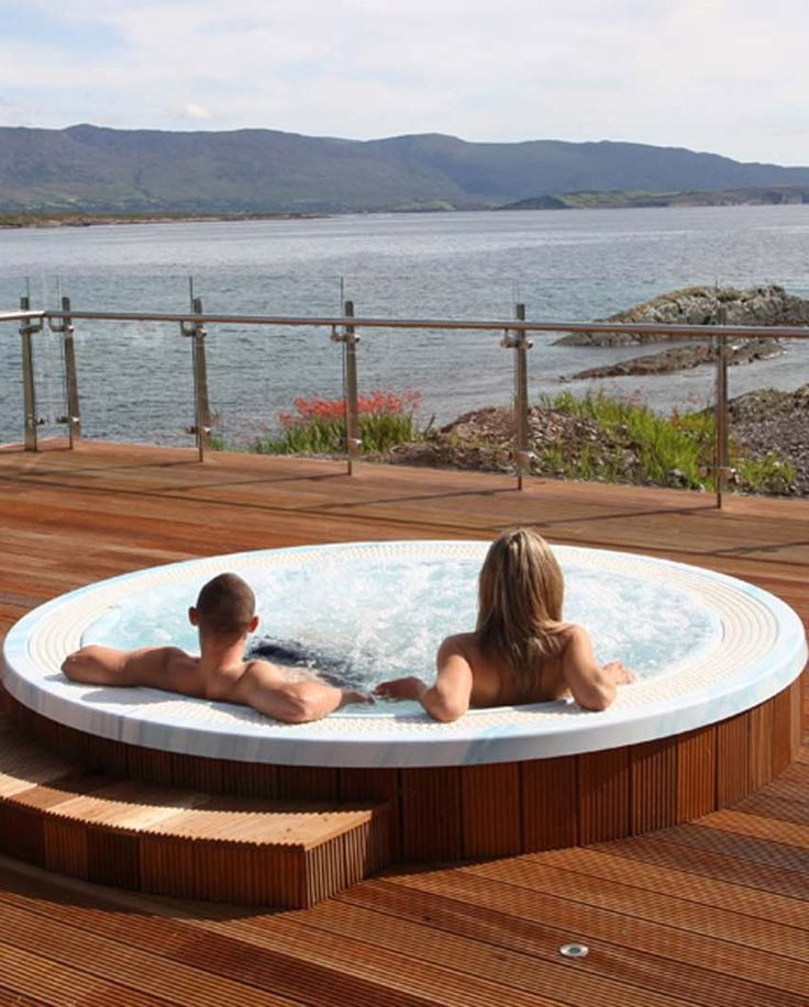 A stunning view to enjoy a hot tub