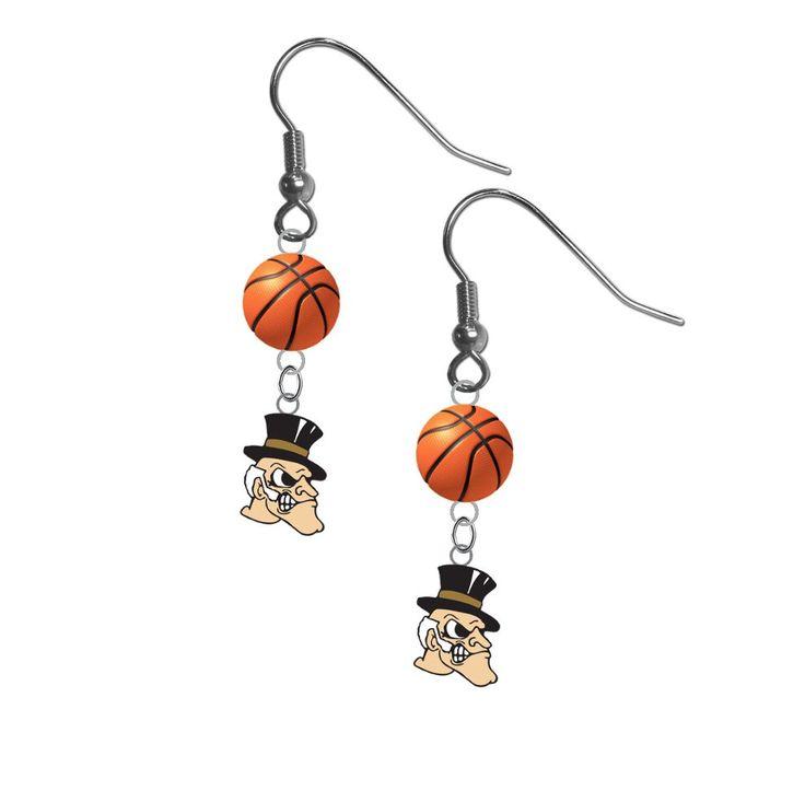 Wake Forest Demon Deacons NCAA Basketball Dangle Earrings