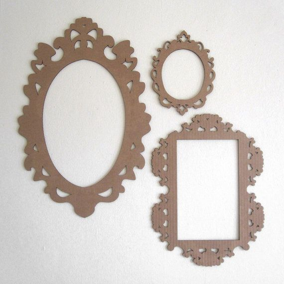 decorative cardboard frame cut out baroque laser cut wall decor
