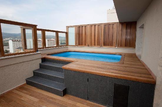 Resultado de imagen de piscina terraza atico small pools spas pinterest jacuzzi small - Piscina terraza atico ...