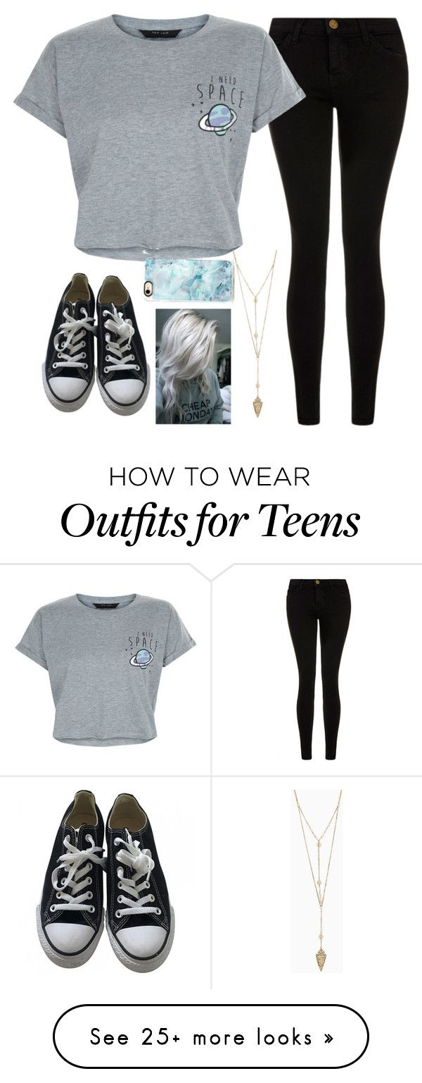 """""""Untitled #1785"""" by tokyoghoul1 on Polyvore featuring Current/Elliott, New Look, Converse and Casetify"""