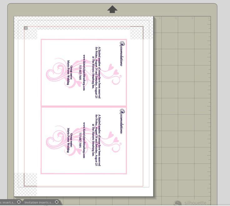 DIY wedding invitation accommodations insert_createandbabble