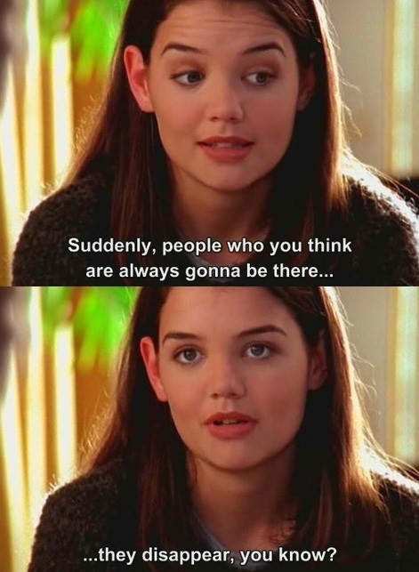 Joey on Dawson's Creek - suddenly people disappear