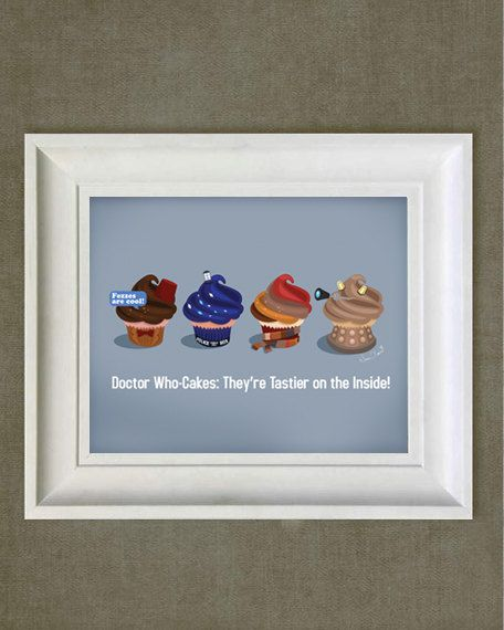 Doctor Who Cupcakes - Art Print