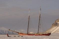 #Noorderlicht IJshotel #schip. #Spitsbergen.