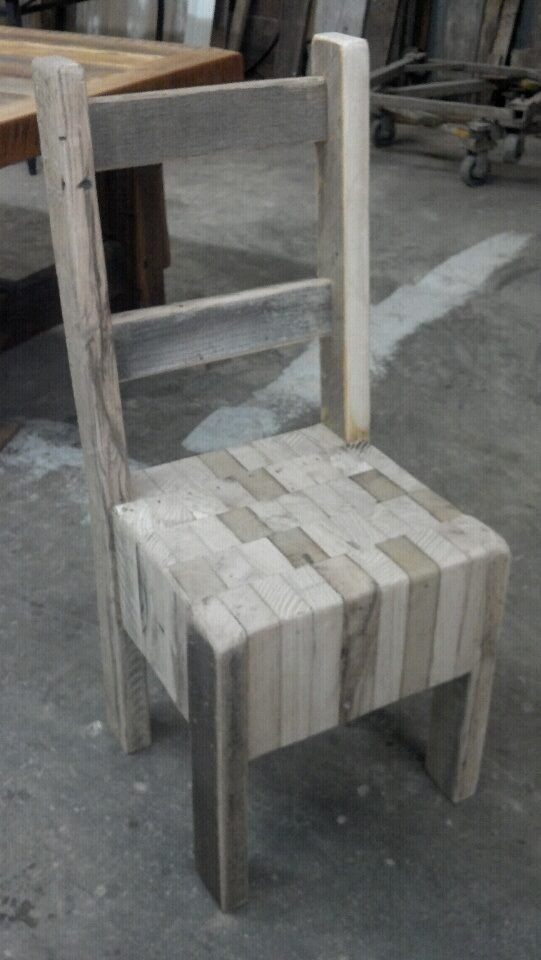 Lovely This One Of A Kind Butcher Block Chair Hasnt Got A Finish On