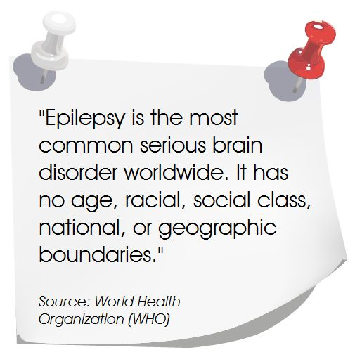 """Epilepsy is the most common serious brain disorder worldwide..."" #Epilepsy #BrainDisorder"