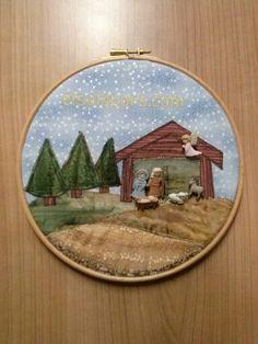 Nacimiento Navidad con botones hecho por Elena D. En Elsa Labors