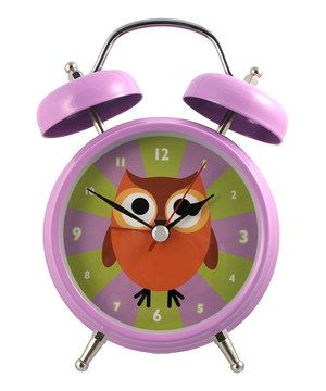 Little ones will love starting each day with the help of this darling clock that features the look of a traditional alarm clock with an adorable owl design on its face! It's perfect for dressing up any bedroom.