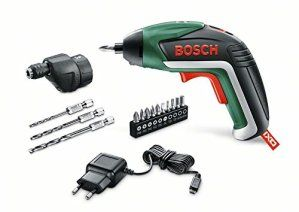 Home and garden drill bosch perceuse-visseuse sans fil iXO easy «– 3 mèches bohraufsatz 2/3/4, 10 embouts, micro chargeur uSB,…