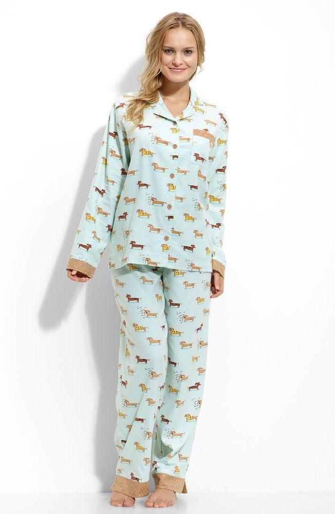 Munki Munki Dachshund Pajamas- Size L- Benefits Dachshund Rescue