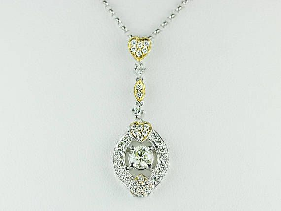 Mejores 39 imgenes de diamond pendant necklace en pinterest unique 089 carat round cut diamond pendant necklace in 18k aloadofball Gallery