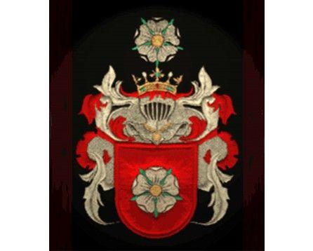 Herb rodowy/herb szlachecki PORAJ - coat of arms - AHA STUDIO Pracownia Haftu Artystycznego | HAFT ARTYSTYCZNY -HERBY, SZTANDARY, PROPORCZYKI  cena 250 zł.   ZAMÓW