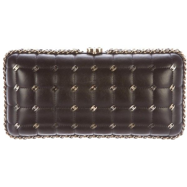 Pre-owned Chanel 2015 Metal CC Embellished Clutch (€3.830) ❤ liked on Polyvore featuring bags, handbags, clutches, black, embellished purse, chanel clutches, chanel handbags, pre owned purses and metal purse