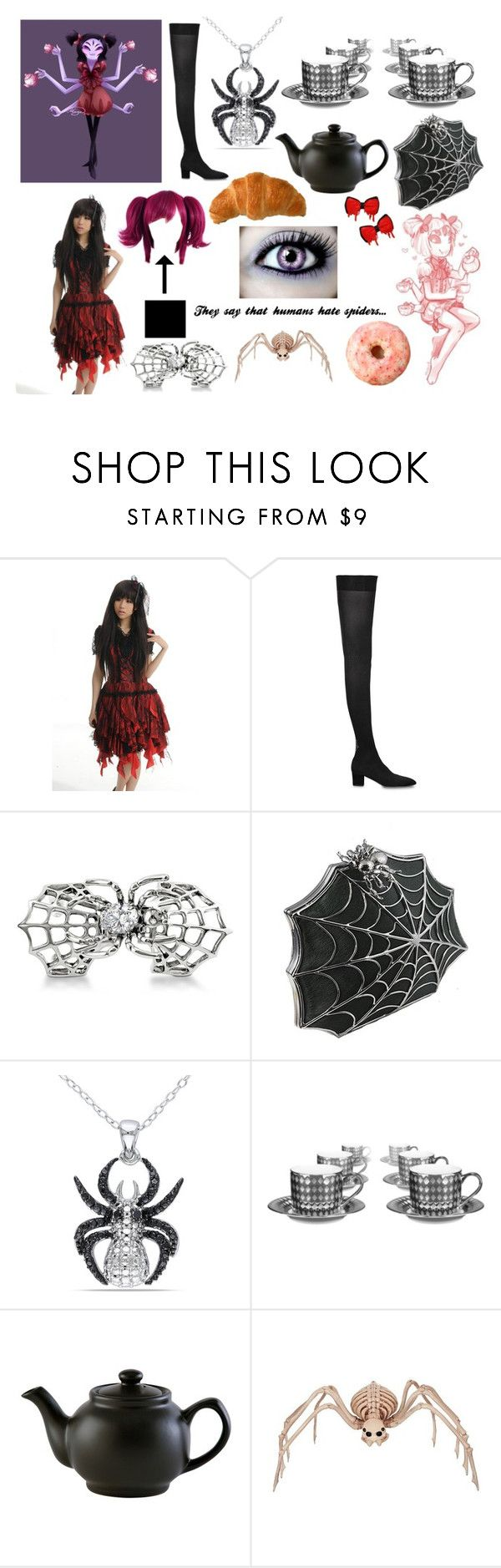 """""""Undertake: Miss Muffet"""" by mimi-takado ❤ liked on Polyvore featuring Charlotte Olympia, BERRICLE, Bernard Delettrez, Ice, Price & Kensington and Buy Seasons"""
