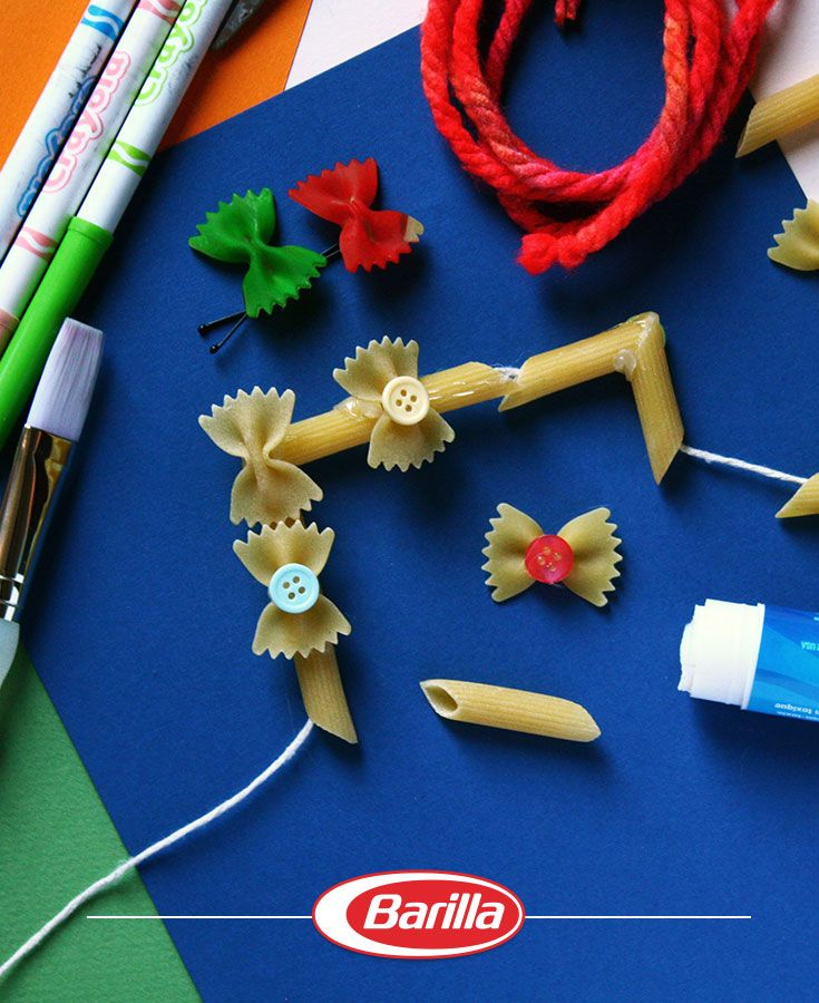 Pasta is great to eat AND to craft with!