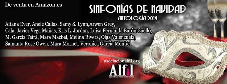 Cartel de las 15 autoras y autor que participamos en Sinfonía de Navidad