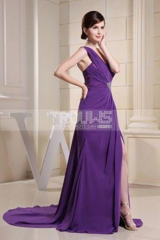 http://www.trouws.com/avondjurken-c25 sexy een schouder lange paarse avondjurken - €122.00 , Trouws.com