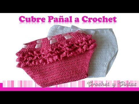 Cubre pañal unisex tejido a crochet (ganchillo) - YouTube