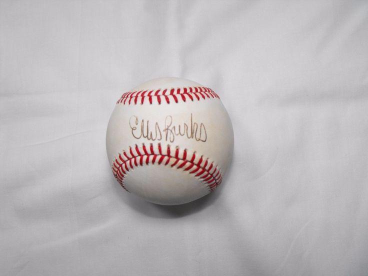 Ellis Burks  AllStar  RedSox Rockies Indians Giants   Signed OAL Baseball