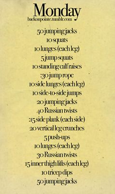 Monday-Sunday Workout