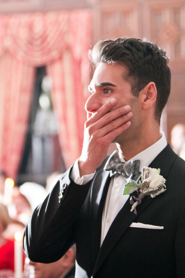 Awesome groom reaction   Photography by tarawelchphotography.com, Planning, Floral   Event Design by tinseltwine.com