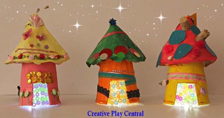 Paper Fairy House Craft More fun craft ideas --> http://www.sewmuchcraftiness.com