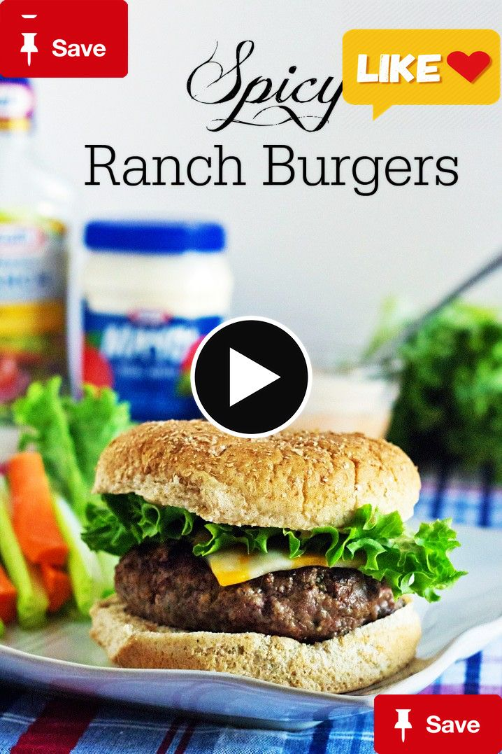 Spicy Ranch BurgersSpicy Ranch Burgers