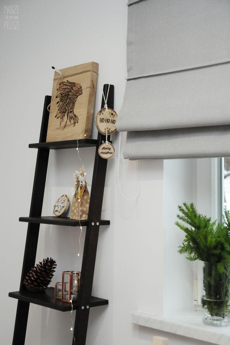 Drabinka CZEKOLADOWA BASIA -->> sprawdź na naszej stronie   #ladder #drabina #homedecor #christmasdecor