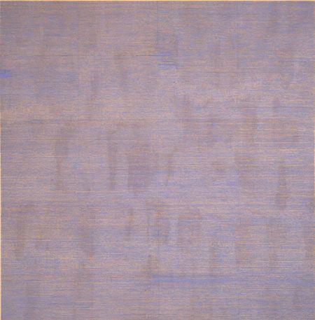 Agnes Martin, Falling Blue, 1963, oil and graphite on canvas #googledoodlefind