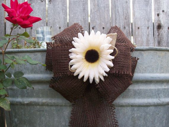 Brown Pew Bows Chocolate Wedding Decor Rustic Wedding by OneFunDay, $13.75