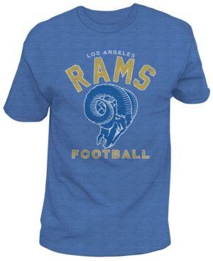 Authentic Nfl Apparel Men's Los Angeles Rams Midfield Retro T-Shirt - Blue XXL
