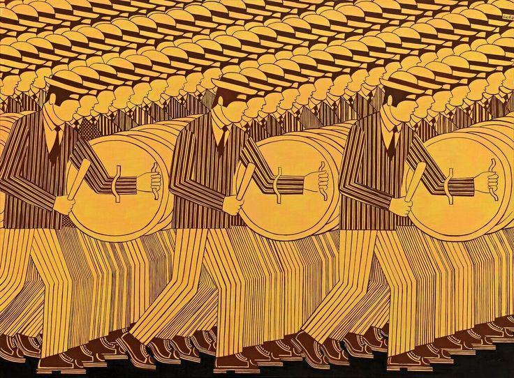 Γιάννης-Γαΐτης.-Οι-Πολεμιστές.-Λάδι-σε-μουσαμά.-98Χ130-εκ.jpg (1024×755)