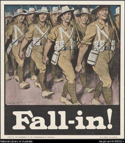 WWI Australian propaganda/recruiting poster.
