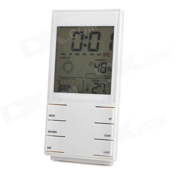 HTC-2 High Precision 3.5 LCD Electronic Hygrometer & Thermometer - White