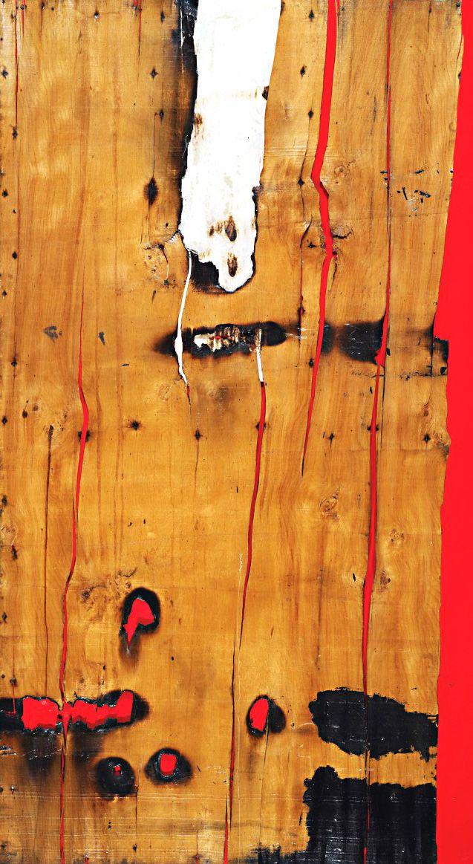 ALBERTO BURRI. Legno e rosso 3. 1956.