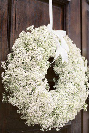 Gypsophila door wreath