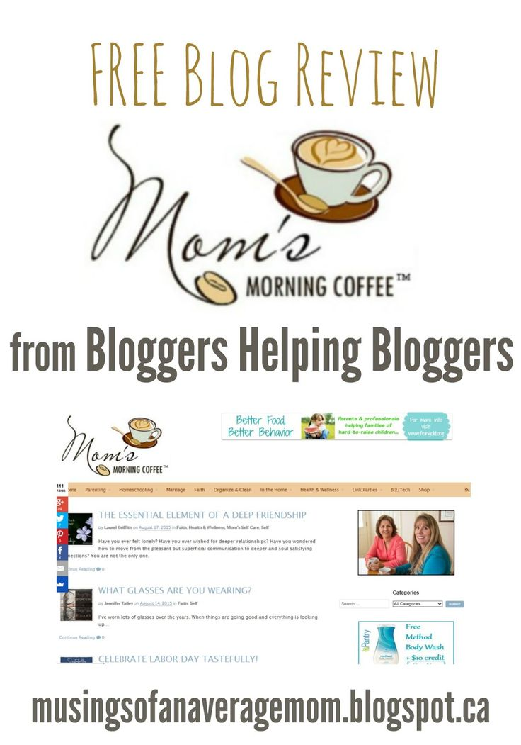 Musings of an Average Mom: Review of Moms Morning Coffee