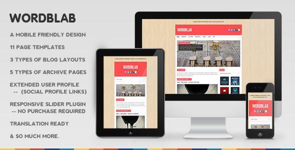 Wordblab Responsive Blogging Theme