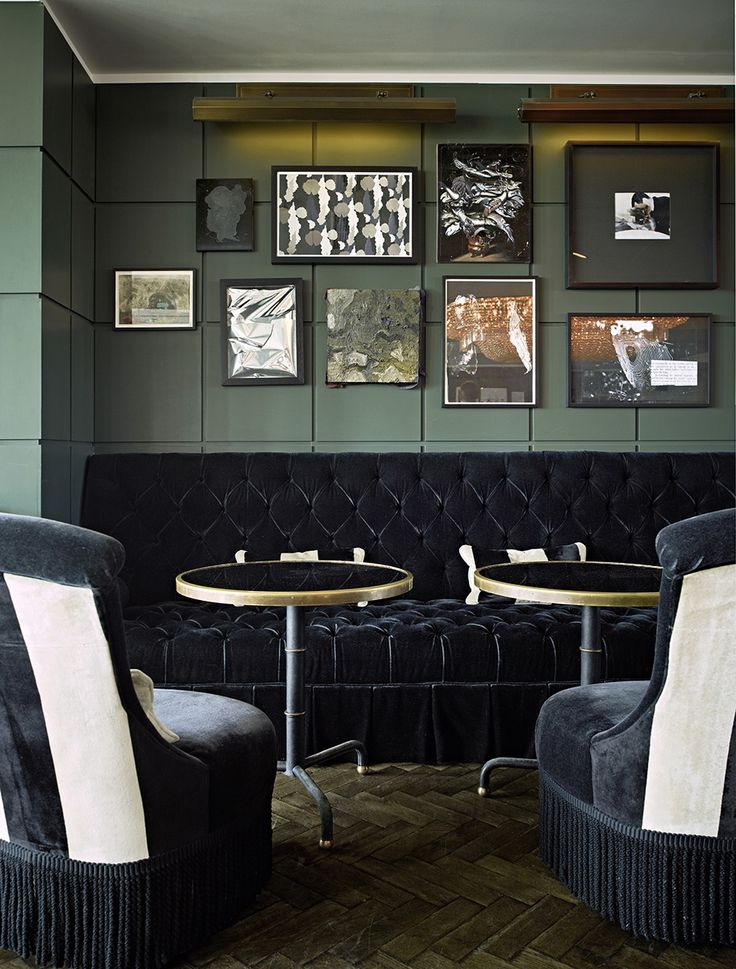 Dark Grey Velvet Chairs | Soho House Berlin