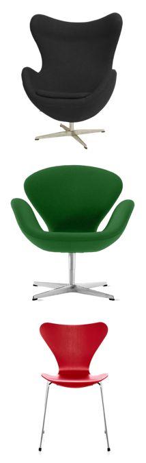 Via Polyvore | Arne Jacobsen | Swan | Egg | Series 7
