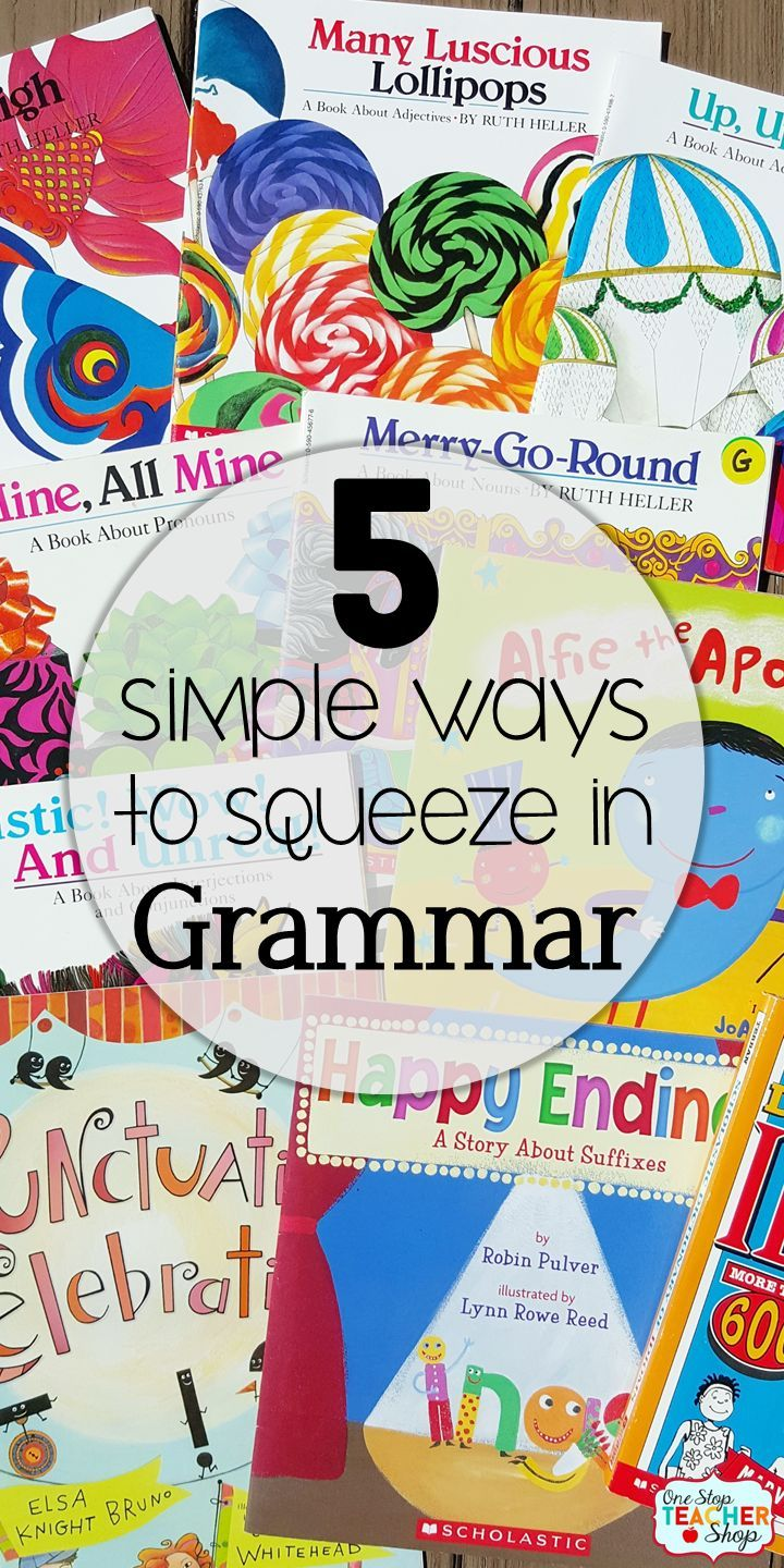 Grammar is important! Teaching grammar doesn't always happen, though. Read about my 5 simple ways to squeeze in grammar instruction with grammar activities and daily grammar review. {Number 3 is a MUST!}
