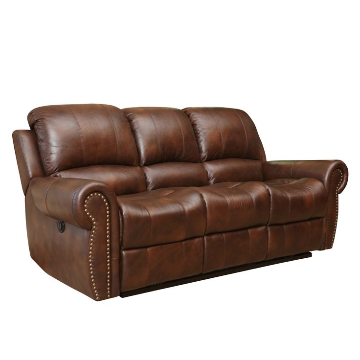 Abbyson Living Sterling Top Grain Leather Power Reclining Sofa Multi Toned Brown Reclining