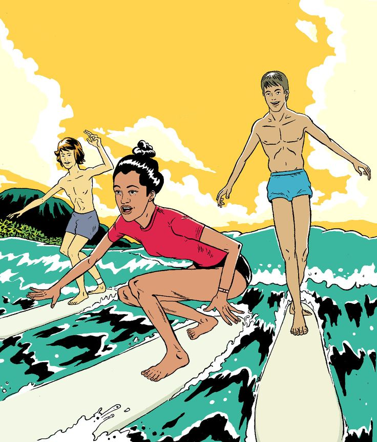 Cruising in Paradise, Oahu. Surfing.