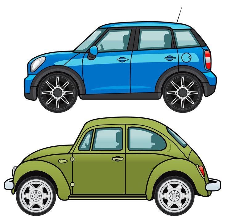Картинки две машины для детей
