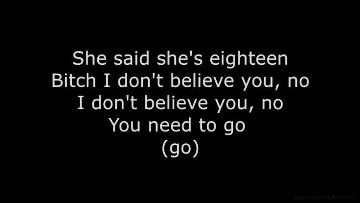 "G-Eazy- ""I Don't believe You"" ft. Team Robot (LYRICS)"