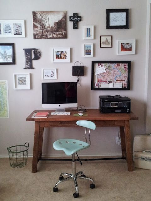 Collage walls, Desk chairs and Industrial on Pinterest