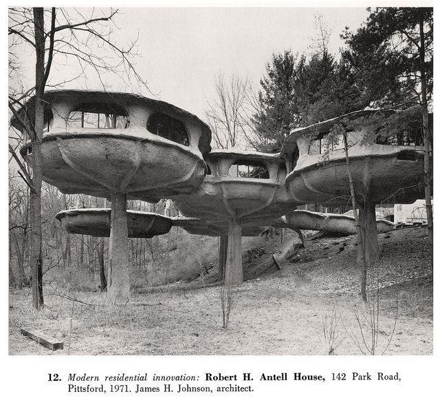 Residential Architects Rochester Ny: Robert H. Antell House, 1971 From Landmarks Of Rochester