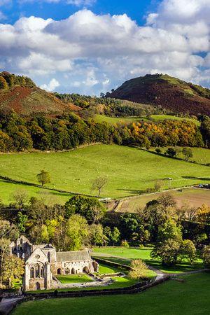 Valle Crucis Abbey is a Cistercian abbey located in Llantysilio in Denbighshire, Wales, United Kingdom.