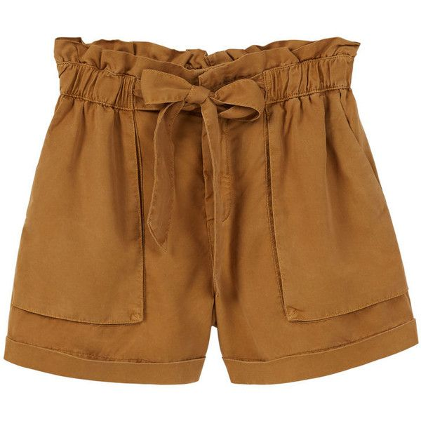 MANGO Soft Fabric Shorts (60 CAD) ❤ liked on Polyvore featuring shorts, elastic waistband shorts, elastic waist shorts and mango shorts